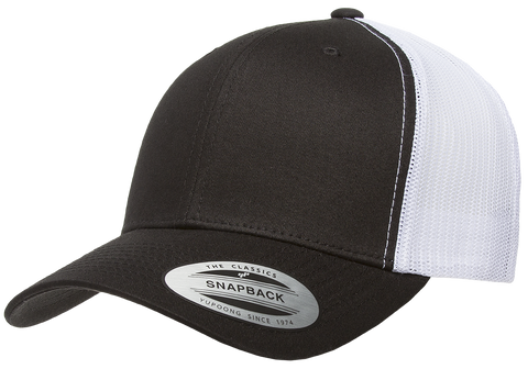 Yupoong Retro Trucker 2-Tone Black/White