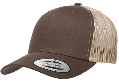 Yupoong Classic Retro Trucker Brown/Khaki