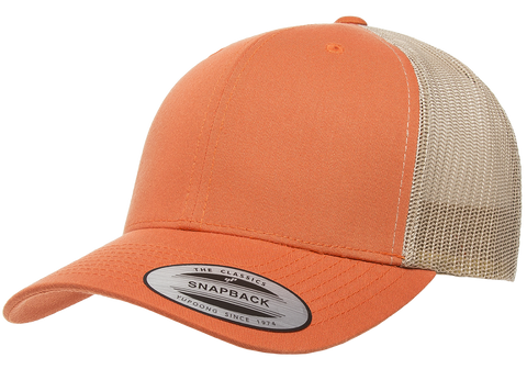 Yupoong Retro Trucker 2-Tone Rustic Orange/Khaki