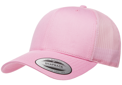 Yupoong Classic Retro Trucker Pink