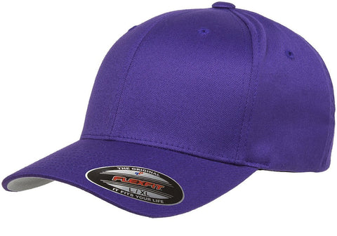 Flexfit Wooly Combed baseball cap Purple