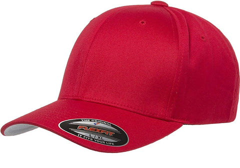 Flexfit Wooly Combed Twill Cap Red