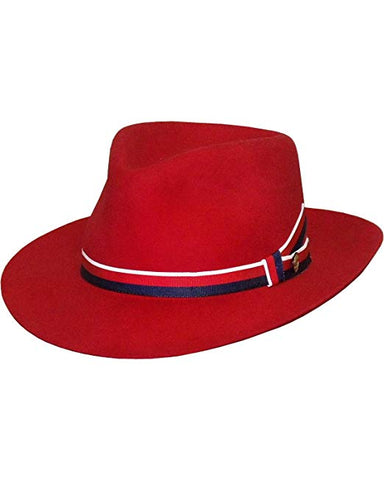 Stetson Aviatrix Fedora Red