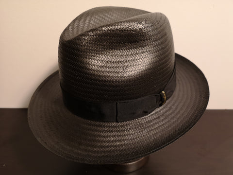 Borsalino Medium Brim Paper woven Black Size 59