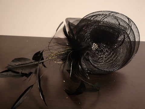 Canadian Hat Cocktail Dress Hat 3 Black