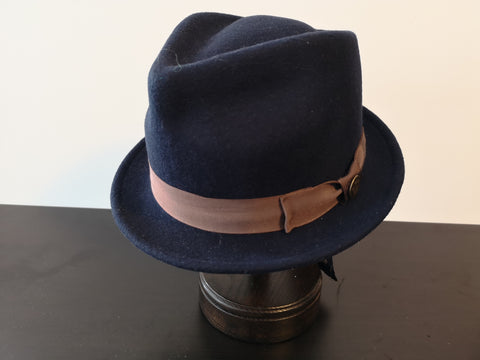 Goorin Bros Mr. Macateer Fedora Navy