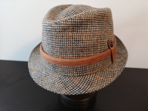 Herman Wool Blend Fedora Brown