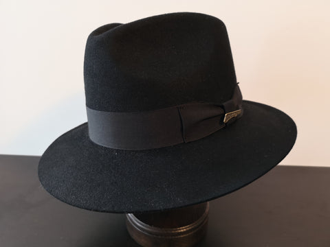 Indiana Jones Fur Felt Fedora Black XL