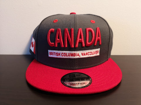 L&I Canada BC New Era Snap Graphite/Scarlet