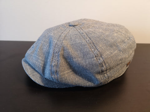 Bailey Ashton Newsboy Cap Navy Stripe
