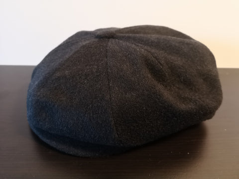 Bailey Galvin Wool Newsboy Cap Black