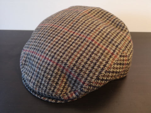 Bailey Lord Plaid Ivy Cap Brown Plaid