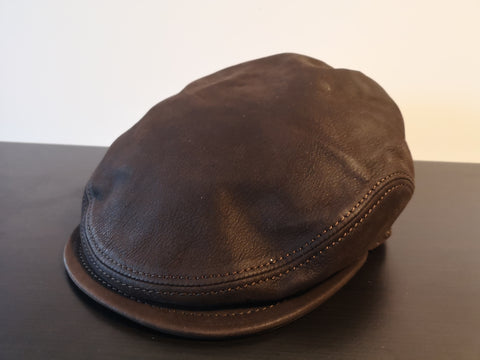 Herman Discovery King Leather Ivy Cap Brown