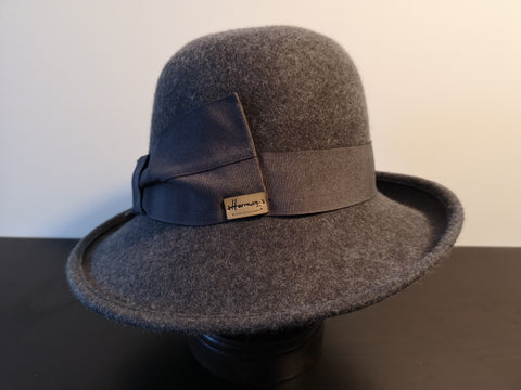 Herman Wool Felt Cloche Grey