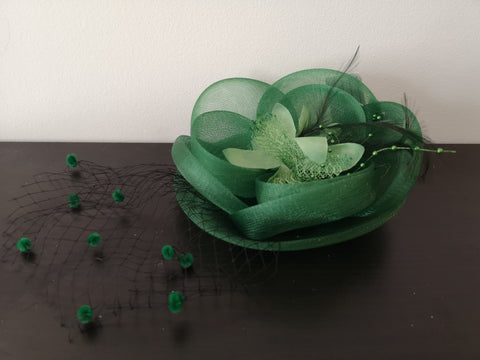 L&I Basic Fascinator FL.U with net Green