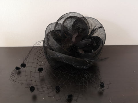 L&I Basic Fascinator FL.U with net Black