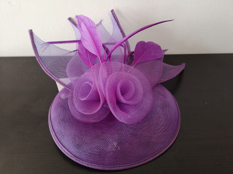 L&I 5 leafs Fascinator Purple