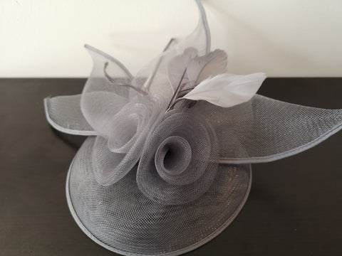 L&I 5 leafs Fascinator Grey
