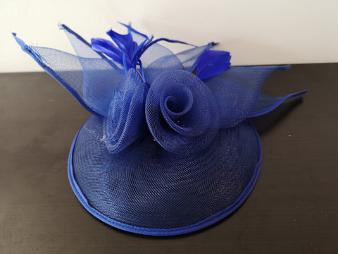 L&I 5 leafs Fascinator Navy