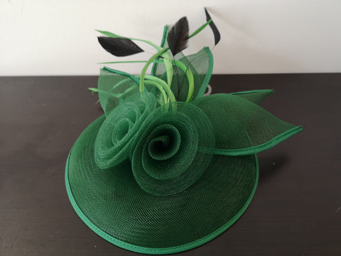 L&I 5 leafs Fascinator Green