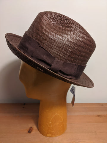 Bailey Lando Lite Straw Fedora Brown
