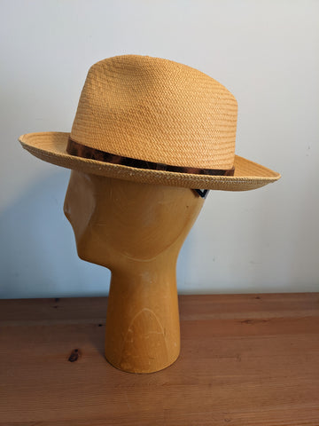 Bailey Coe Panama Fedora Honey Small