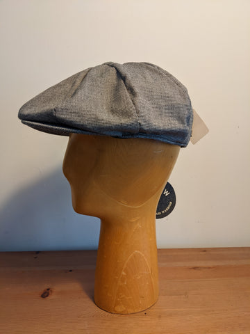 W.C.W Walker newsboy cap Black/white