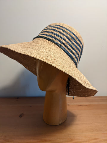 L&I Raffia Joanna Natural /Navy