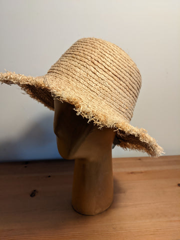 L&I Raffia Boater Raw Brim Natural