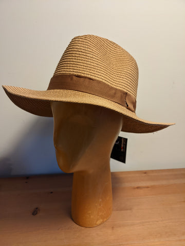 L&I Paper Straw Fedora Brown / Brown band