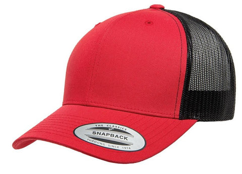 Yupoong Retro Trucker 2-Tone Rustic Red/Black