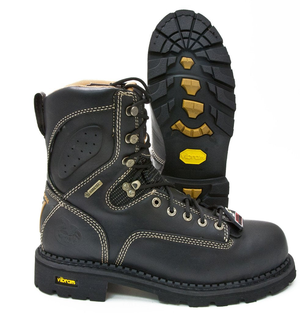 Top Leather Logger Boots