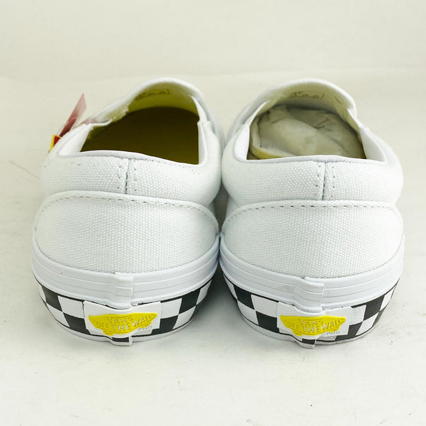 "Vans Classics Pro Black White and Yellow Slip On ""Taxi"" Shoes"