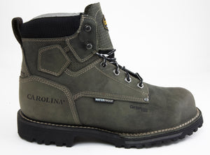 Carolina CA7532 Pitstop Green Leather Waterproof Composite Toe EH Rated Work Boot side