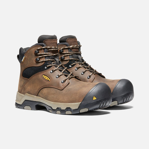 Keen Rockford 1021342 Brown Waterproof Composite Toe Slip Resistant Work Boot