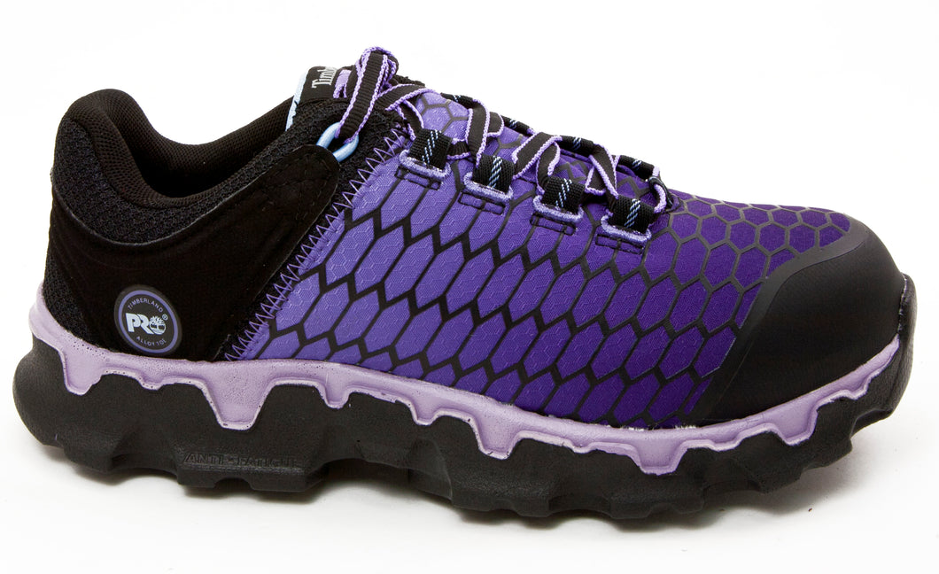 Timberland PRO Womens Powertrain TB0A1H1S001 Purple Alloy Safety Toe Slip Resistant Work Shoe side
