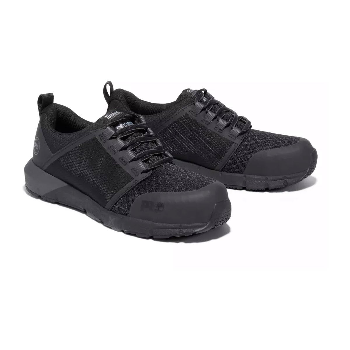 Timberland PRO Radius 0A27W7 Black Mesh Composite Safety Toe Slip Resistant Work Sneaker