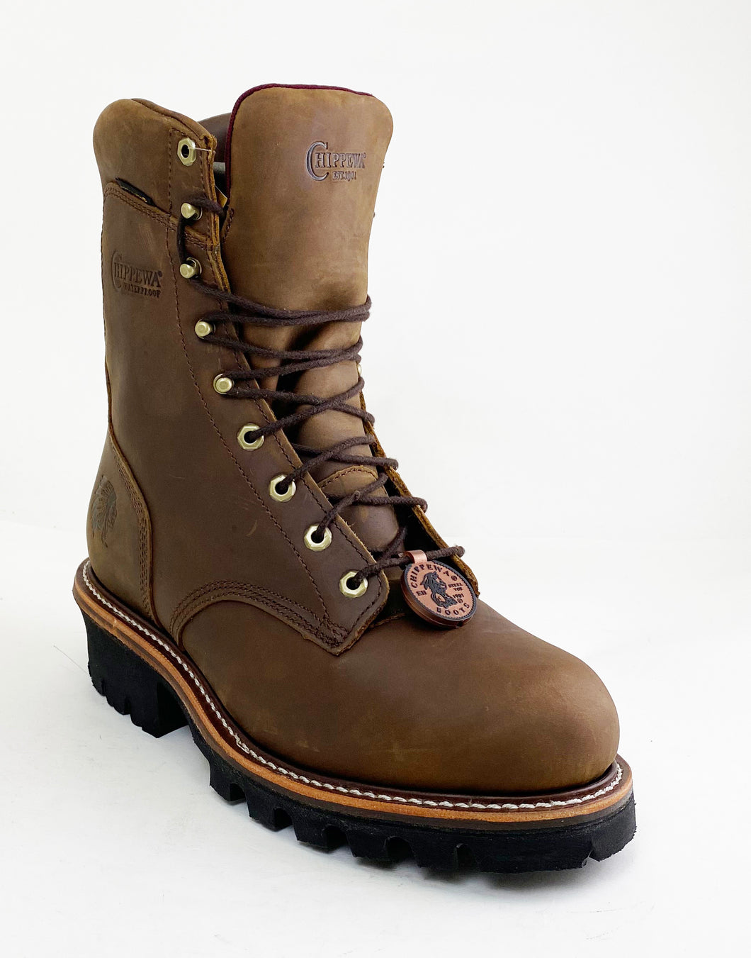 Chippewa 59405 Brown Waterproof 400 Grams Insulated Steel Toe Logger Work Boot