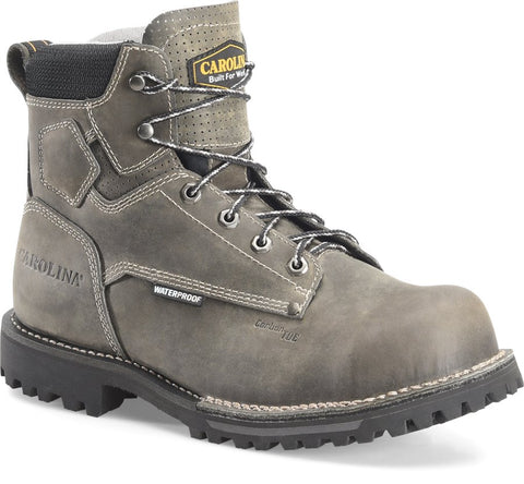 Carolina CA7532 Pitstop Green Leather Waterproof Composite Toe Work Boot