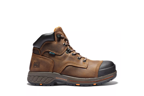 Timberland PRO Helix HD A1HQL Brown Leather Composite Toe Waterproof Work Boot