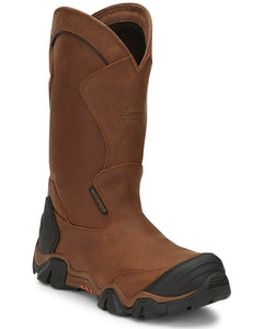 "Chippewa 50023 12"" Atlas Brown Wellington Composite Toe Waterproof Work Boot"