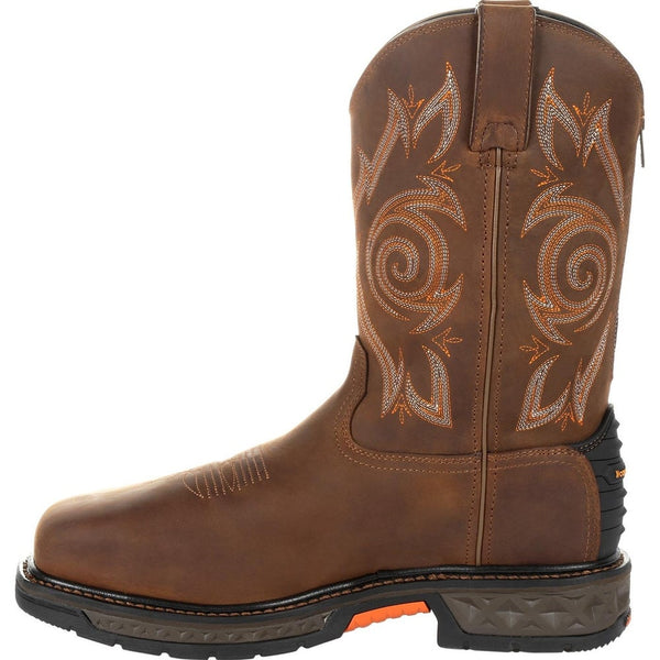 Georgia Boot GB00264 Steel Toe Waterproof Brown Leather Western Work Boot