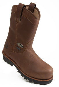 Chippewa Foreman 20510 Brown Leather Waterproof Composite Toe Pull On Work Boot