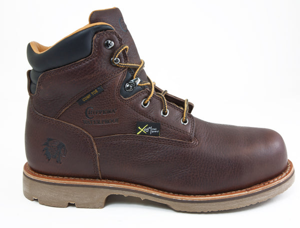 Chippewa 72124 Briar Brown Leather Composite Toe Waterproof Met Guard Work Boot