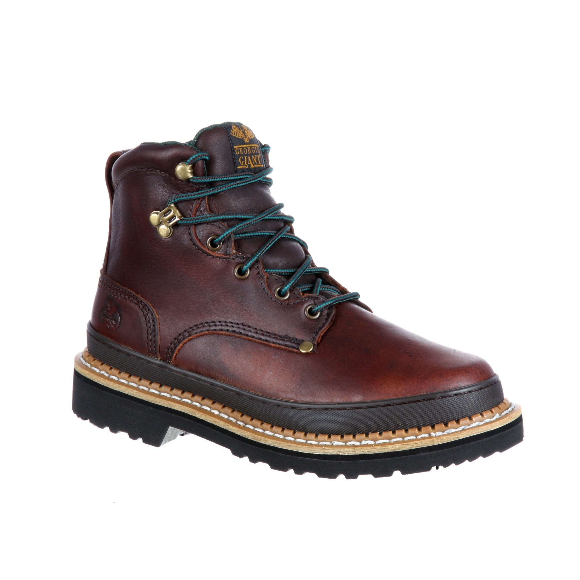 "Georgia Boot ""Georgia Giant"" G6374 Brown Leather Steel Toe Work Boot"