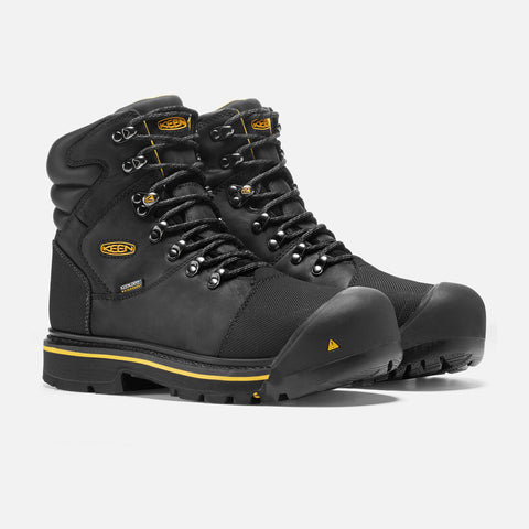 Keen Milwaukee 1009173 Black Leather Steel Toe Waterproof Work Boot