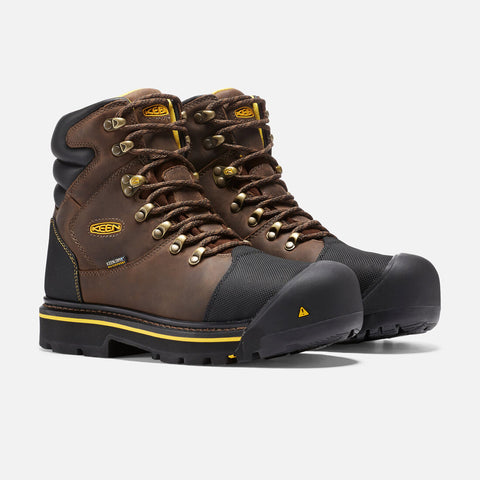 Keen Milwaukee 1009174 Brown Leather Steel Toe Waterproof Work Boot