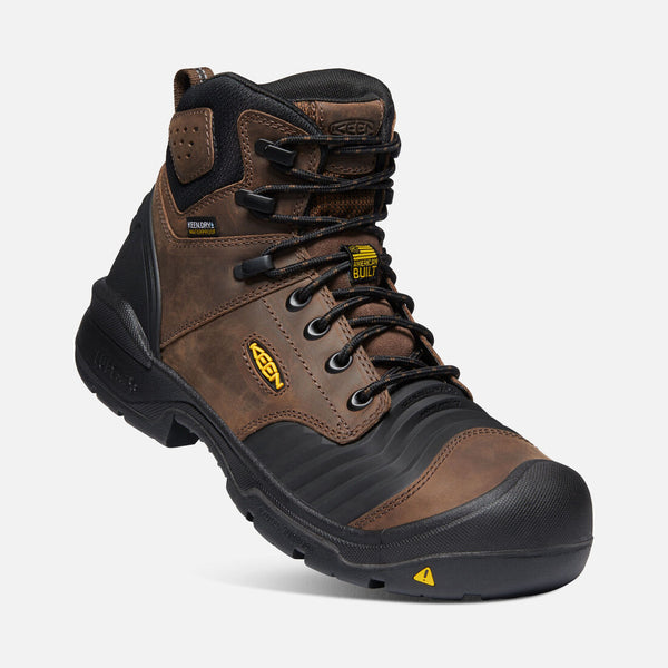 Keen Portland 1023386EE Flex Bellows Brown Waterproof Composite Toe Work Boot BUILT IN THE USA