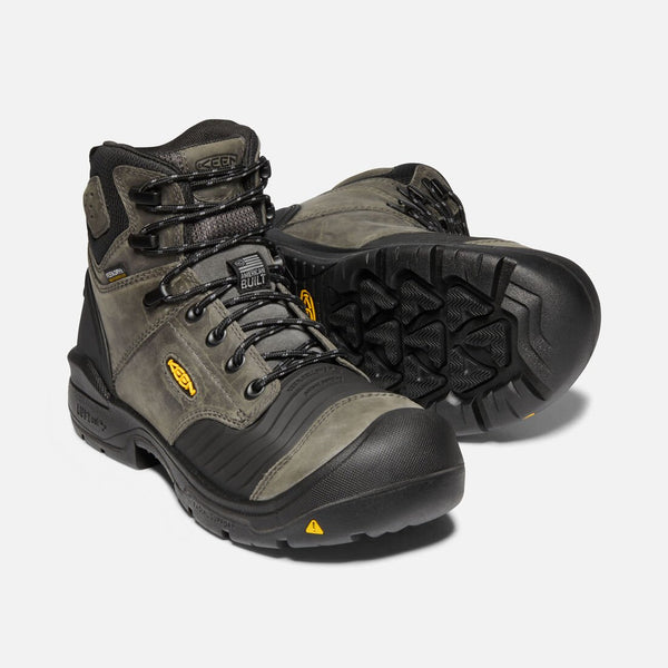 Keen Portland Flex Bellows 1023387EE Deep Gray Waterproof Composite Toe Work Boot BUILT IN THE USA