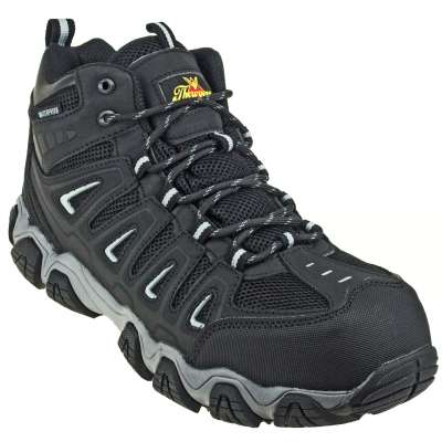 Thorogood Crosstrex 804-6292 Black Mid Composite Toe Waterproof Hiker Work Boot